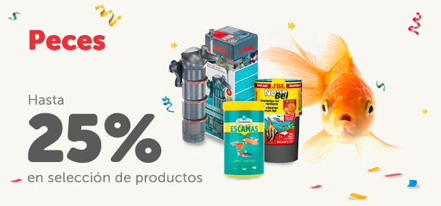 Hasta 25% en productos de peces