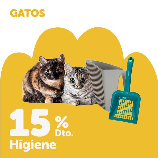 15% de descuento en higiene para gato