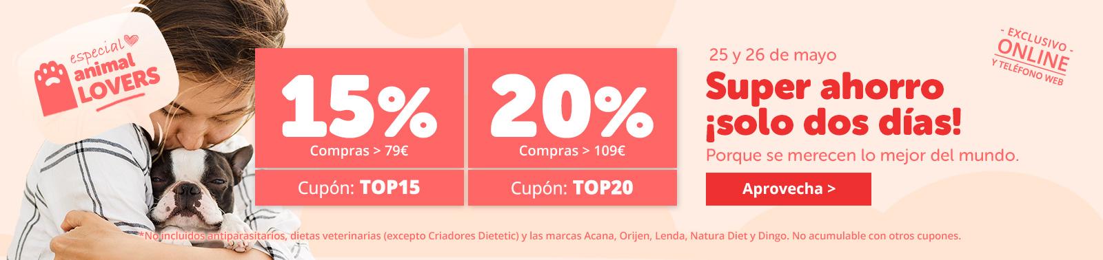 Cupones ahorro: 5€ o 10€ dto.