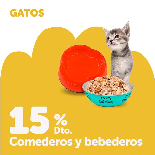 15% de descuento en comederos y bebederos para gato