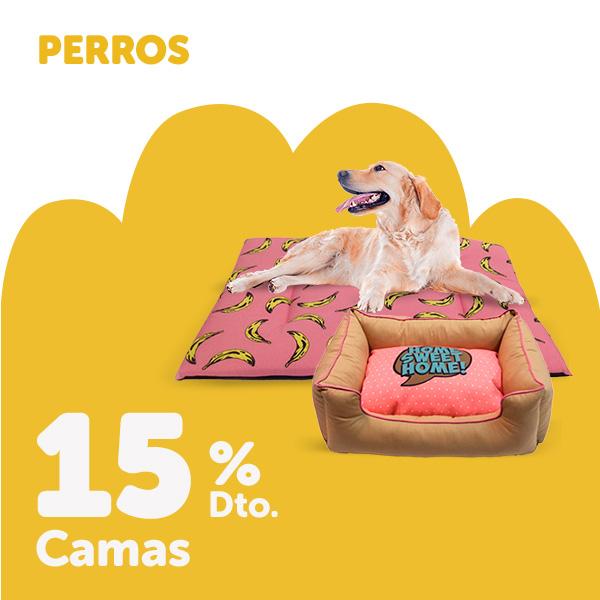 15% de descuento en camas para perro