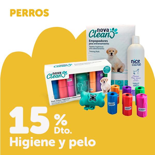 15% de descuento en productos de higiene para perro