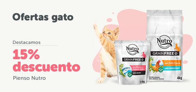 15% en pienso gato Nutro