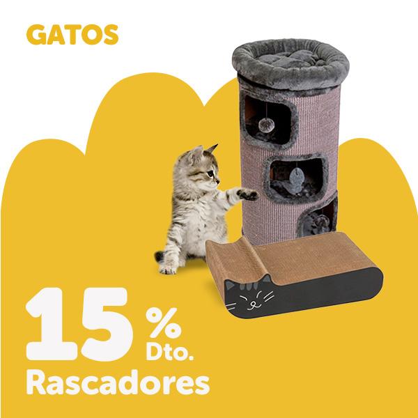 15% de descuento en rascadores para gato
