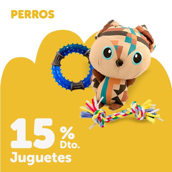 15% de descuento en juguetes para perro