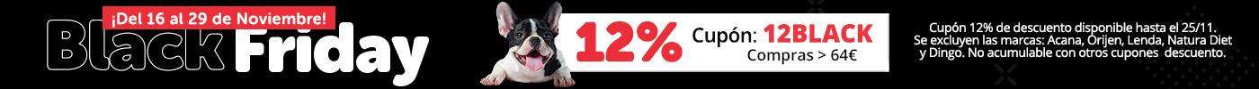 ¡Aprovecha ya! 12% en compras superiores 64€