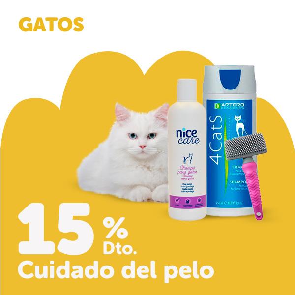 15% de descuento en productos para el cuidado del pelo para gato