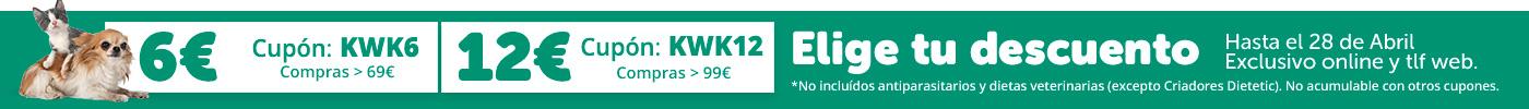 Cupones ahorro: 6€ o 12€ dto.