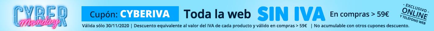 Cyber Monday - toda la web SIN IVA