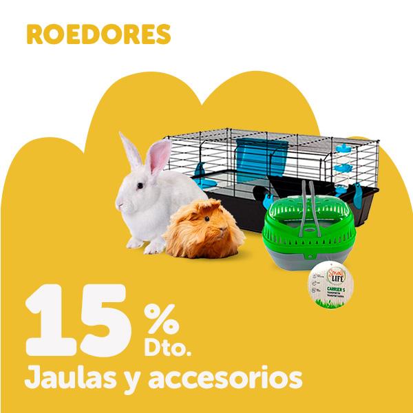 15% de descuento selección de accesorios para roedores