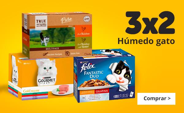 3x2 en comida húmeda de gato