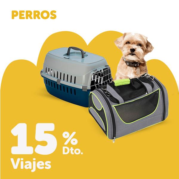 15% de descuento en viaje para perro