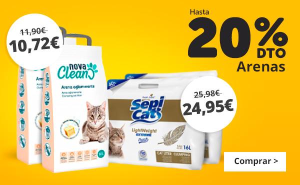 Arenas para gatos... packs ahorro