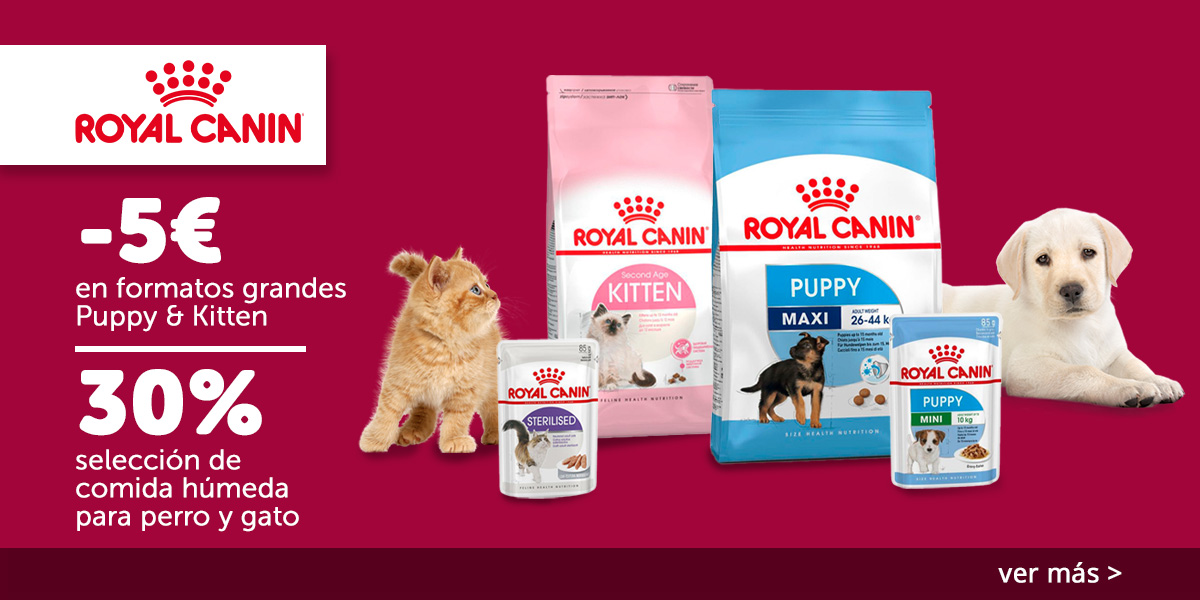 5€ dto. Royal Canin Puppy y Kitten