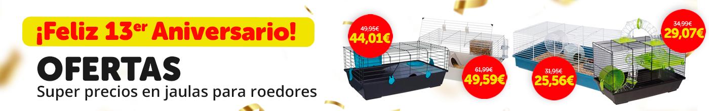 Descuentos en selección de jaulas para roedores