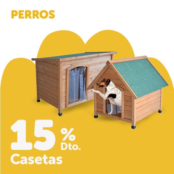 15% de descuento en casetas para perro