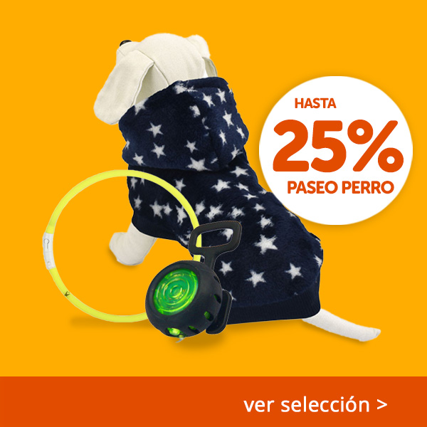 Hasta 25% Paseo Perro