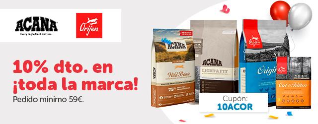 Acana + Orijen- 10% en pienso