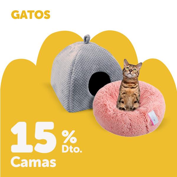 15% de descuento en productos de camas para gato