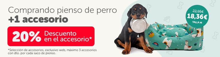Comprando pienso de perro... ¡20% de dto. en accesorios!