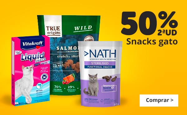 Snacks para gatos con 2ª al 50%