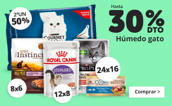 Hasta 30% en comida humeda gato