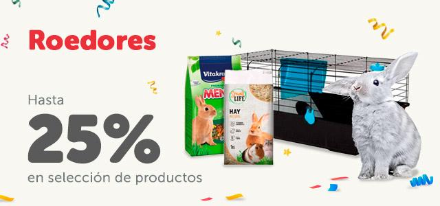 Hasta 25% en productos de roedores