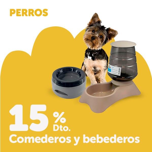15% de descuento en comederos para perro