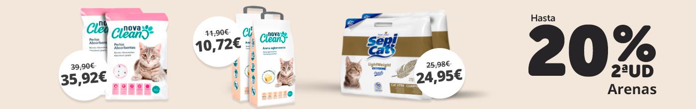 Lechos y arenas para gatos
