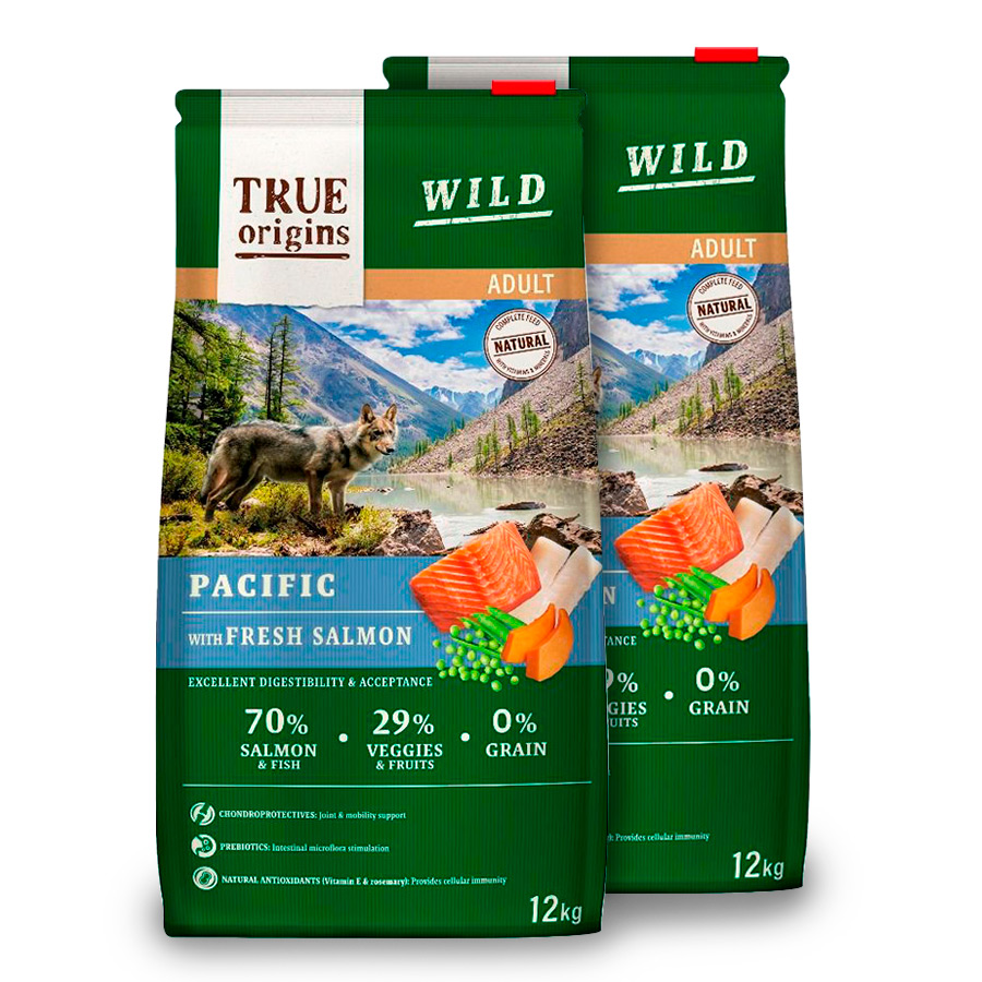 True Origins Wild Dog Pacific Adult - 2x12 kg Pack Ahorro, , large image number null