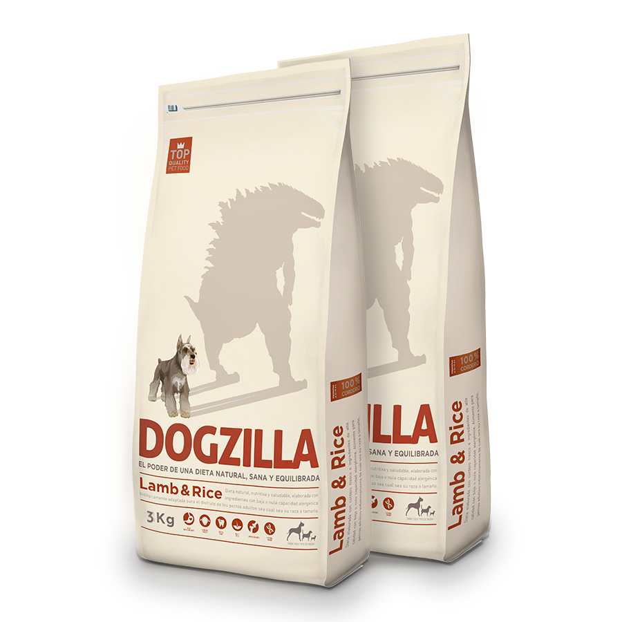 Dogzilla Cordero Pack Duo 3Kg image number null