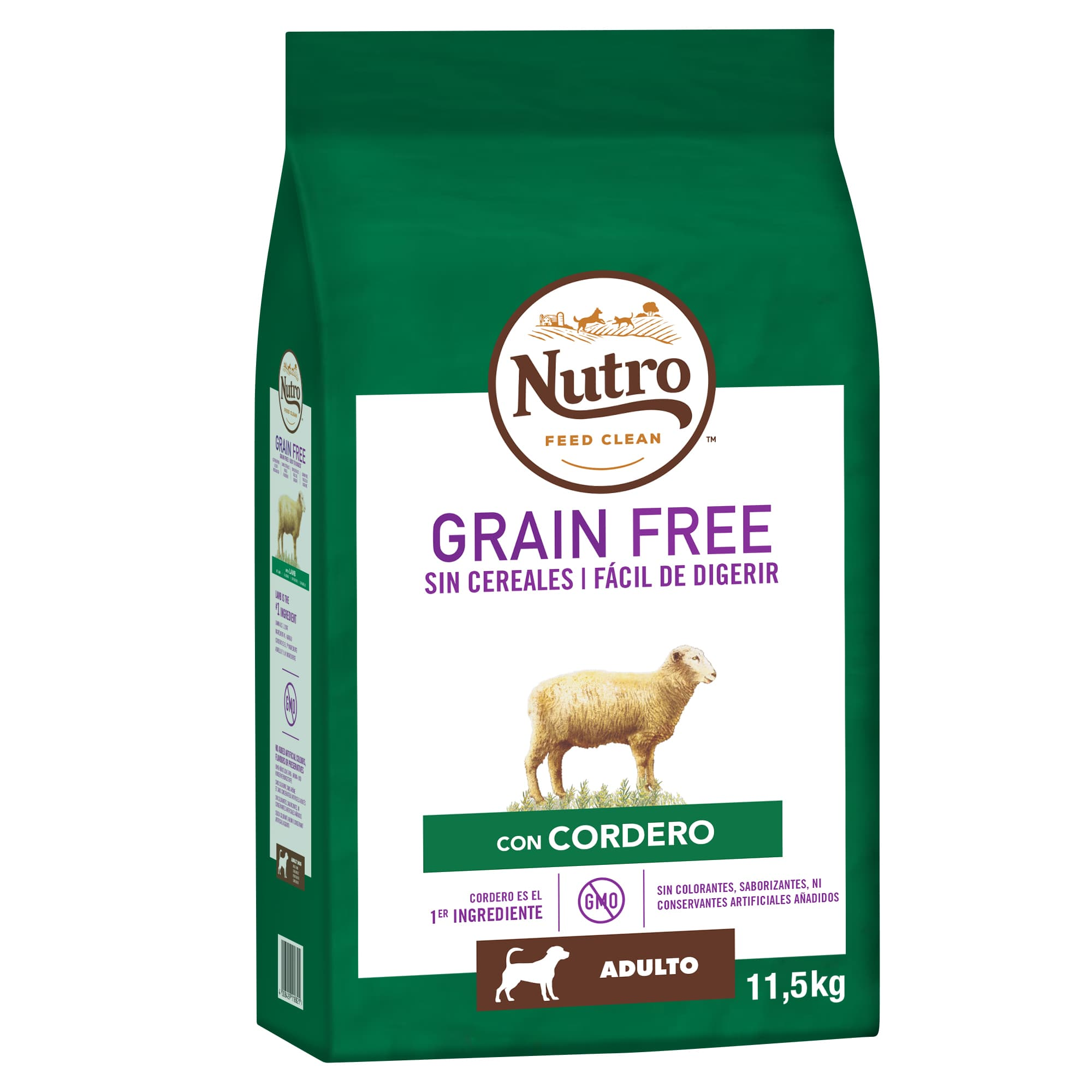 Nutro Grain free adulto mediano cordero 14,5 kg, , large image number null