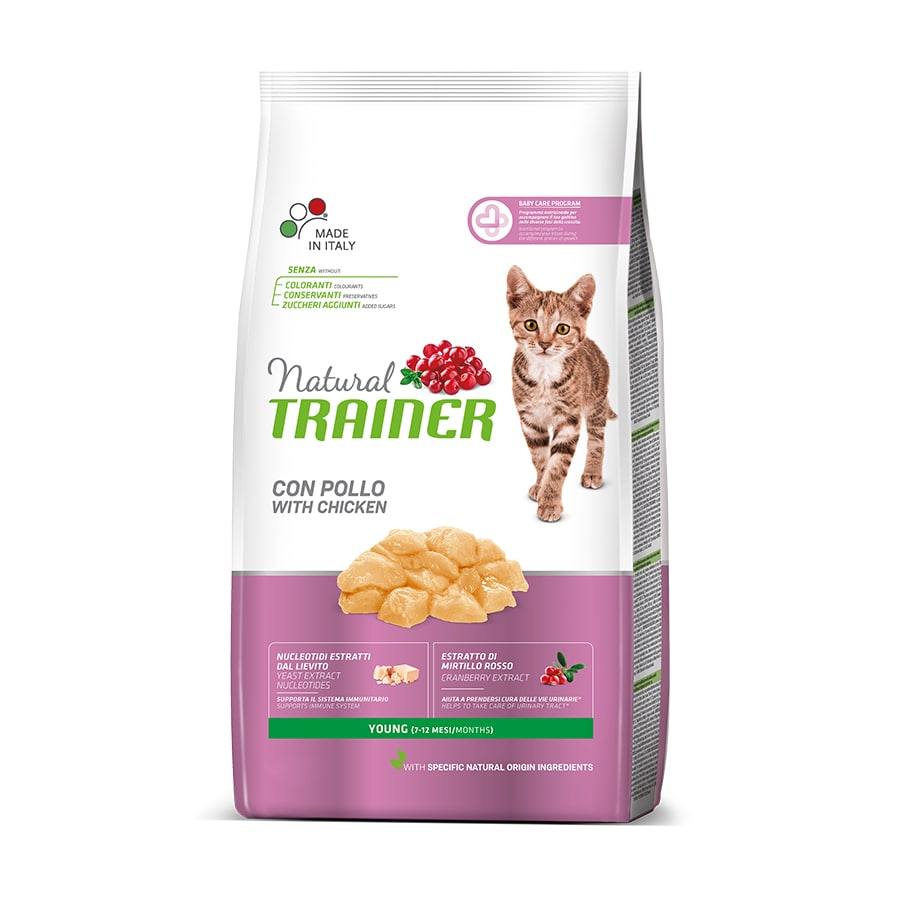 Pienso para gatos Natural Trainer Cat Young con pollo 1,5 kg, , large image number null