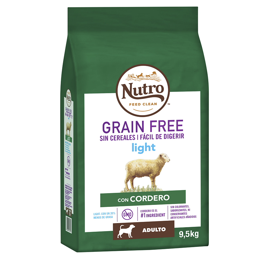 Nutro Grain Free Light Cordero 10kg, , large image number null