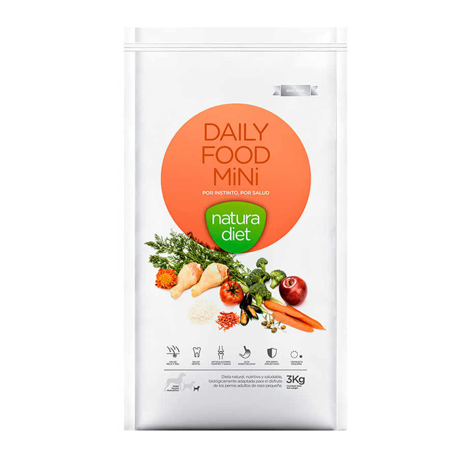 Natura Diet Daily Food Pollo alimento para perro adulto mini 3 kg, , large image number null