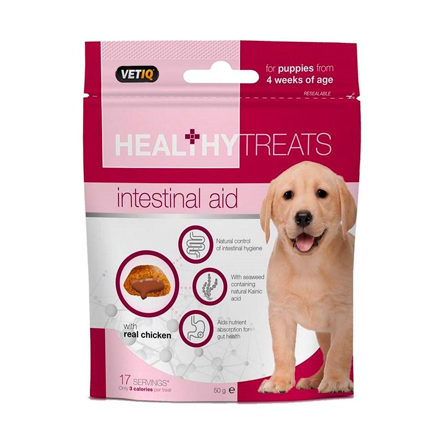 Snacks VetIQ para la salud intestinal para puppy 50 gr, , large image number null