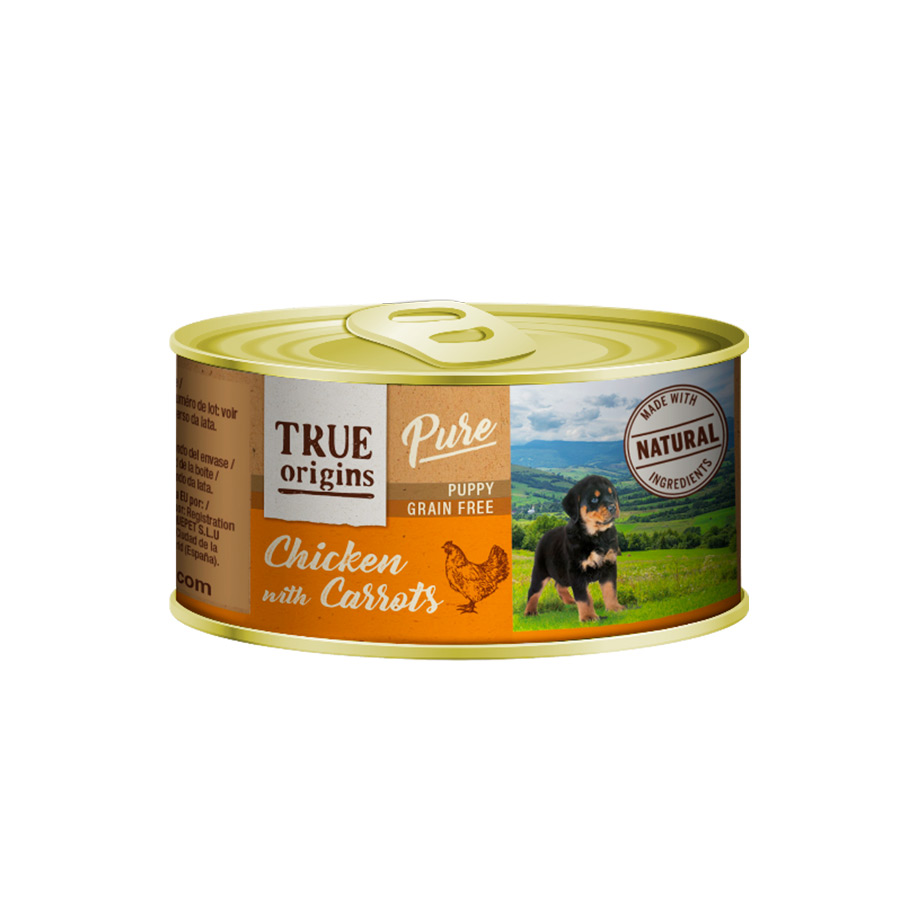 Pack 12 Latas True Origins Pure puppy pollo 185 gr, , large image number null