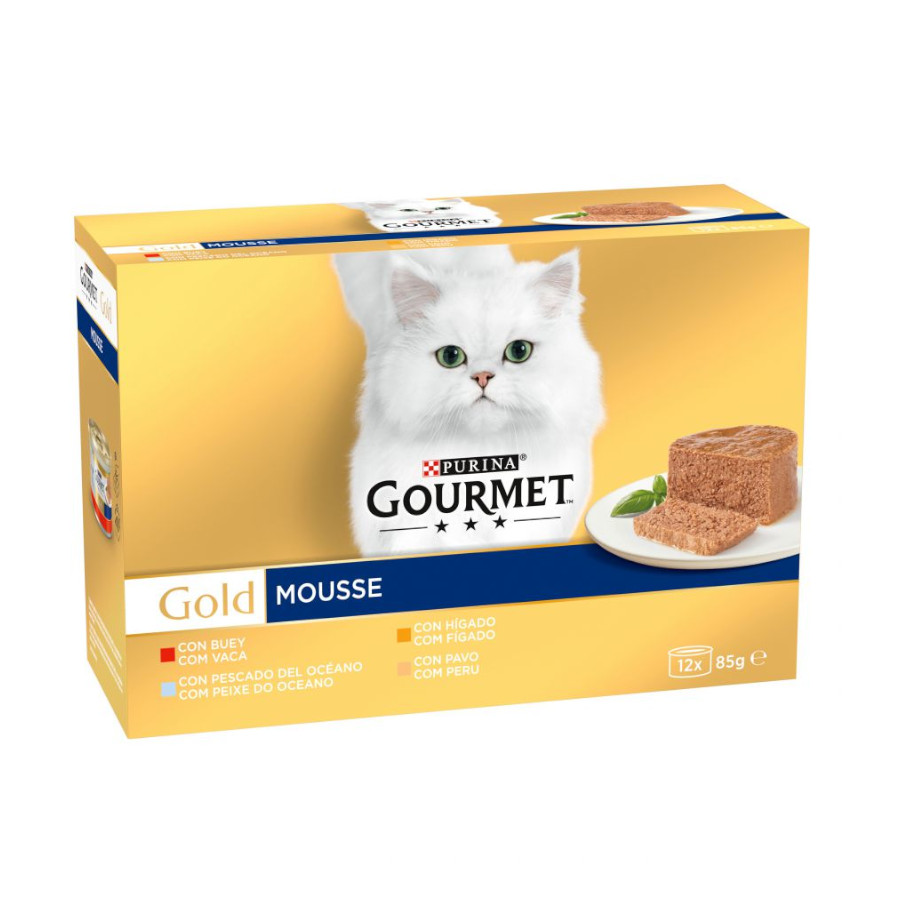 Latas Gourmet Gold Mousse 8 x 85 gr, , large image number null