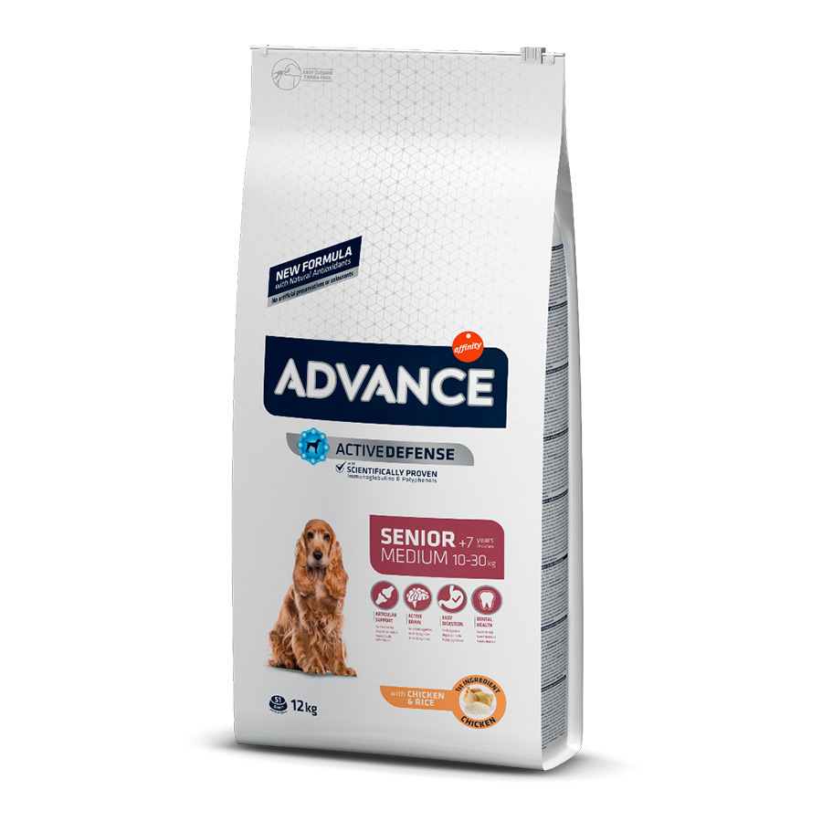 Affinity Advance Medium Senior +7 pollo y arroz 12kg, , large image number null