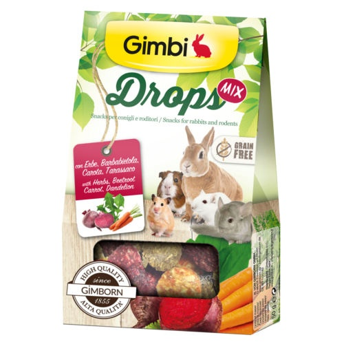 Gimbi Drops Mix snack para roedores image number null
