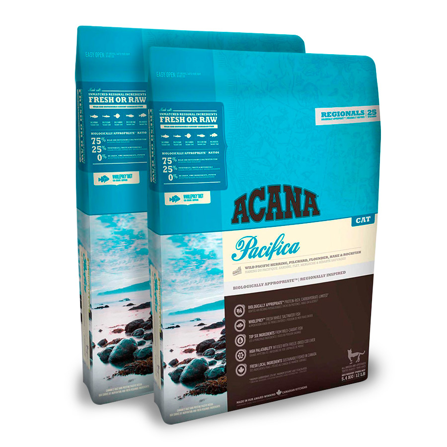 2 x Acana Feline Pacifica - 2x5.4 kg Pack Ahorro, , large image number null
