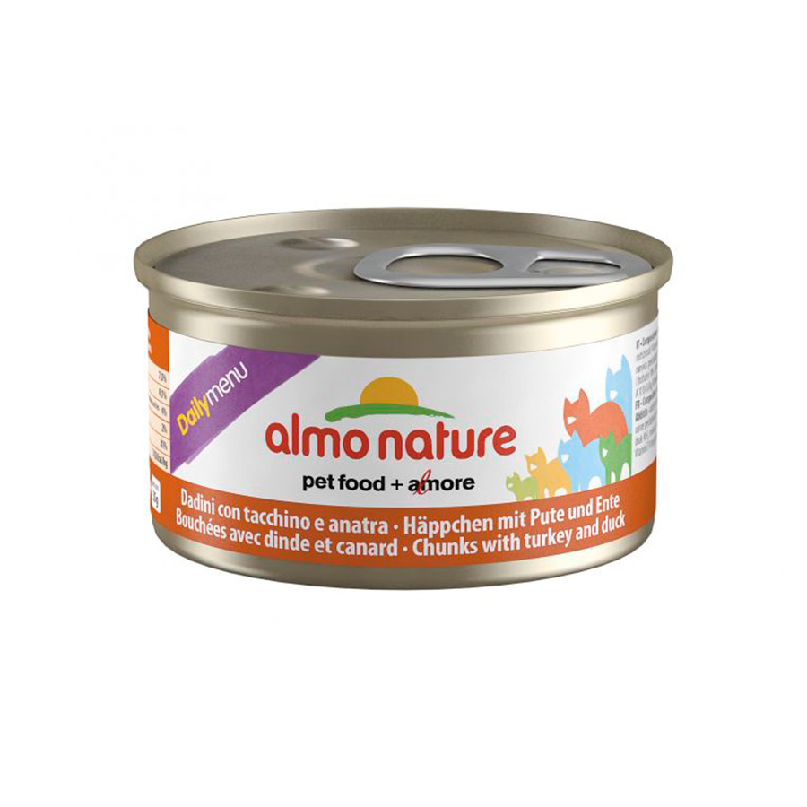 Lata Almo Nature Feline Daily Menu con trozos 85 gr image number null
