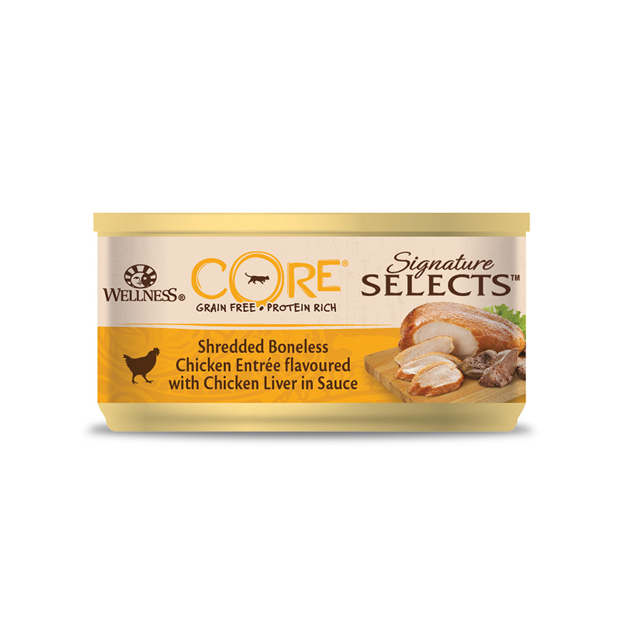 Pack 24 Latas Wellness Core Feline Signature Selects 79 gr, , large image number null