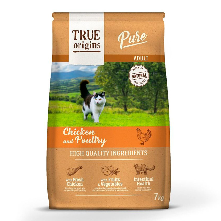 True Origins Pure Cat Adult Poultry Pollo, , large image number null