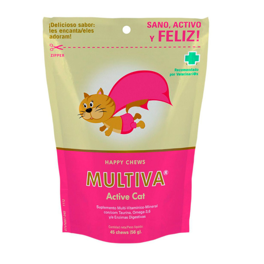 Multivitamínico para gatos Multiva Active Cat, , large image number null
