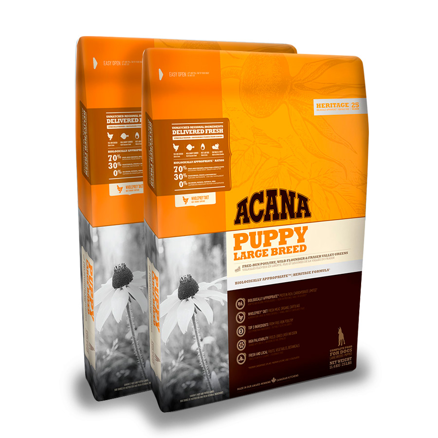 Acana Puppy Large Breed - 2x11.4 kg Pack Ahorro, , large image number null