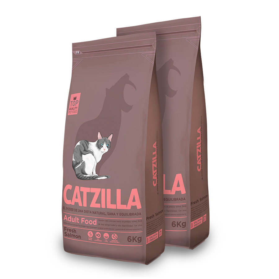 Catzilla Feline Adult salmón - 2x6 kg Pack Ahorro, , large image number null