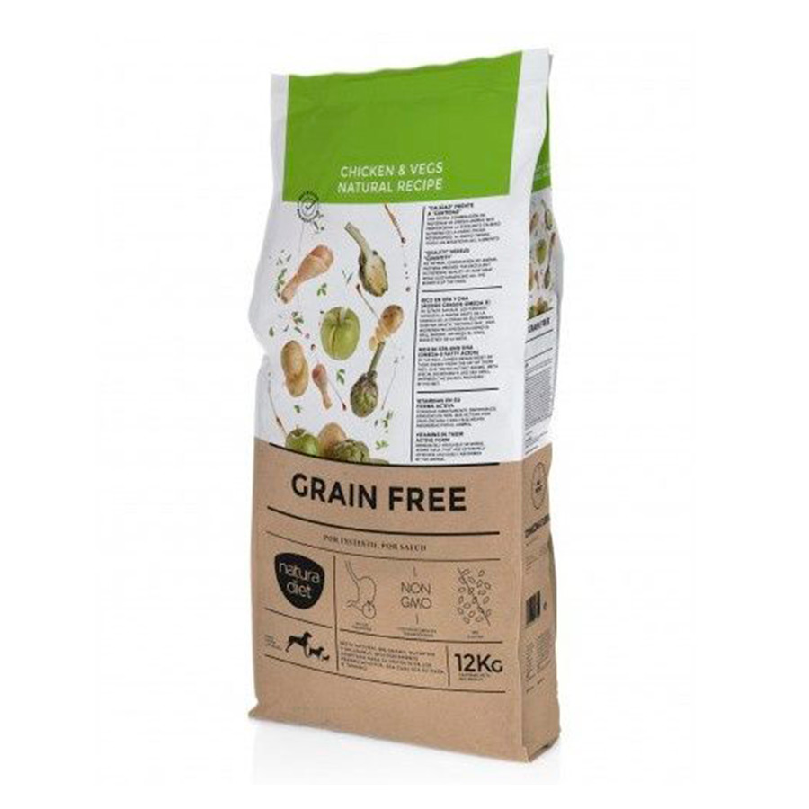 Natura Diet Grain Free Adult Receta Natural pollo 12 kg, , large image number null