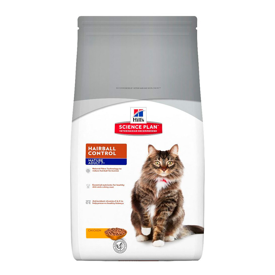 Hill's Science Plan Feline Mature Adult 7+ Hairbal Controll pollo 1,5 kg, , large image number null