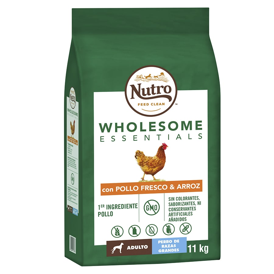 Nutro Wholesome Essentials Adult pollo razas grandes 11,5 kg, , large image number null